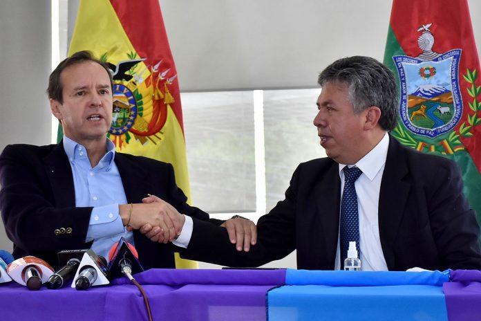 Jorge Quiroga y Luis Larrea