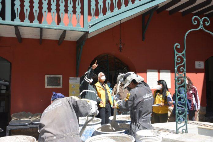 Obras de revoque hidrofugo aplacaran la humedad en la Casa de Pedro Domingo Murillo