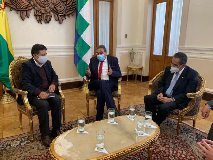 Presidente de la CNC propone un Gran Pacto Publico Privado al Vicepresidente David Choquehuanca para fortalecer la economia del pais