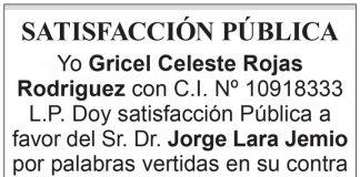 Satisfacción Pública a Jorge Lara Jemio