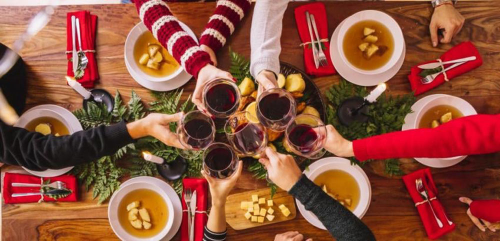 disfrutar las cenas de fin de ano