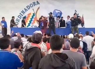 sillazo contra Evo Morales
