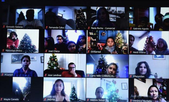 Funcionarios de LBC Seguros tuvieron una celebracion de fin de ano virtual
