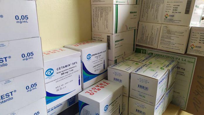 Ministerio de Salud y Deportes entrega medicamentos para terapia intensiva del Hospital de Clinicas de La Paz