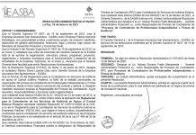 EASBA - Resolución Administrativa Nº 06/2021
