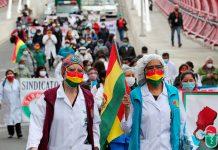 marcha contra la ley de Emergencia Sanitaria