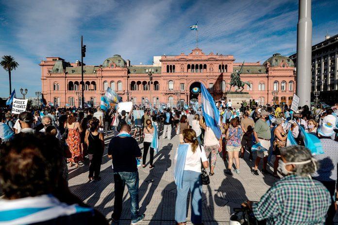 protestas contra el Gobierno argentino