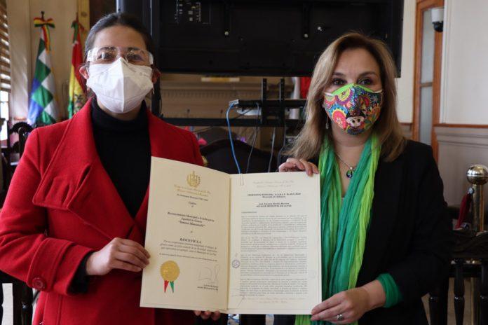 Banco FIE recibe galardon del municipio de La Paz