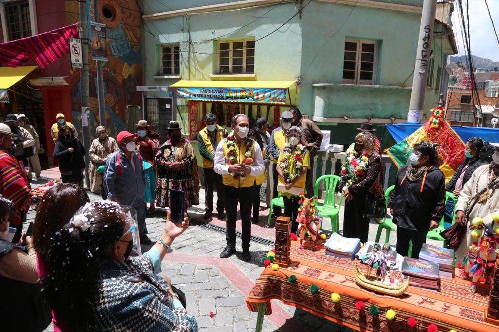 El sitio turistico ofrece saberes y conocimientos sobre las mesas y ofrendas rituales andinas