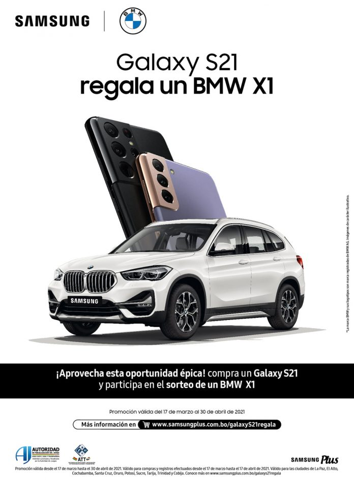Samsung Galaxy S21 regala un BMW X1