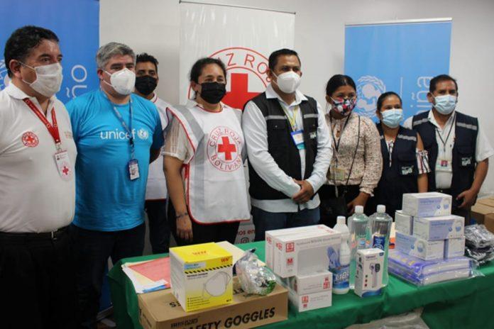 UNICEF dona 8.3 toneladas de insumos de bioseguridad e higiene para personal de salud