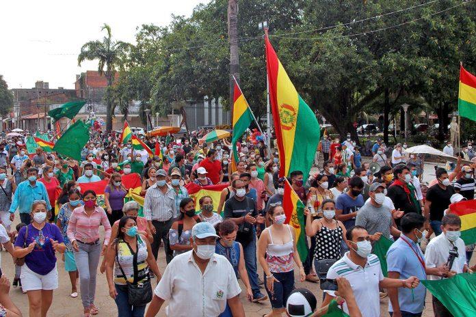 marcha comité cívico Trinidad