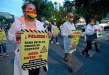 médicos protestan en La Paz