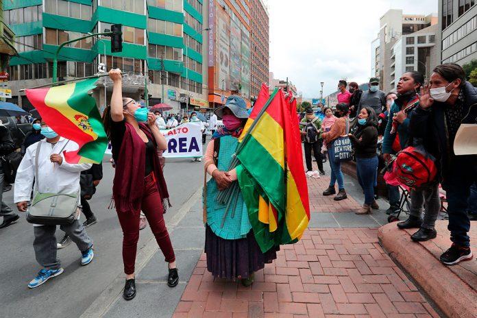 protestas contra detención de Jeanine Áñez