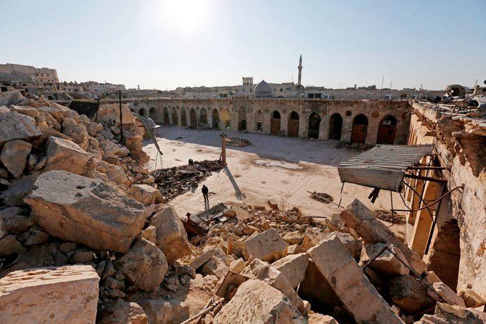 restos mezquita Umayyad en Siria