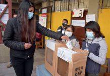 simulacro votación La Paz