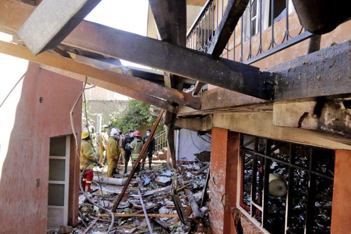 vivienda destrozada Sacaba