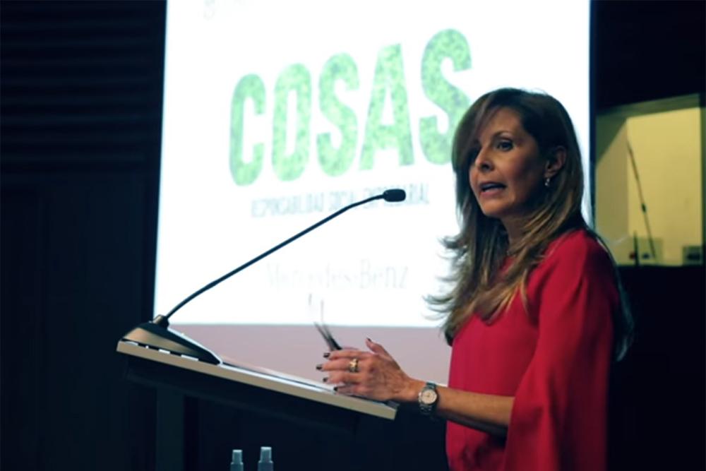 Carla Tejerina de Cabezas Directora de la revista Cosas Bolivia