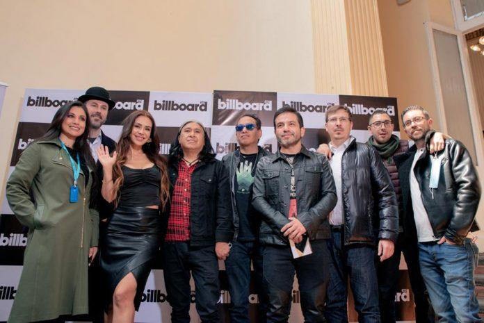 Ejecutivos de Billboard Bolivia con Octavia