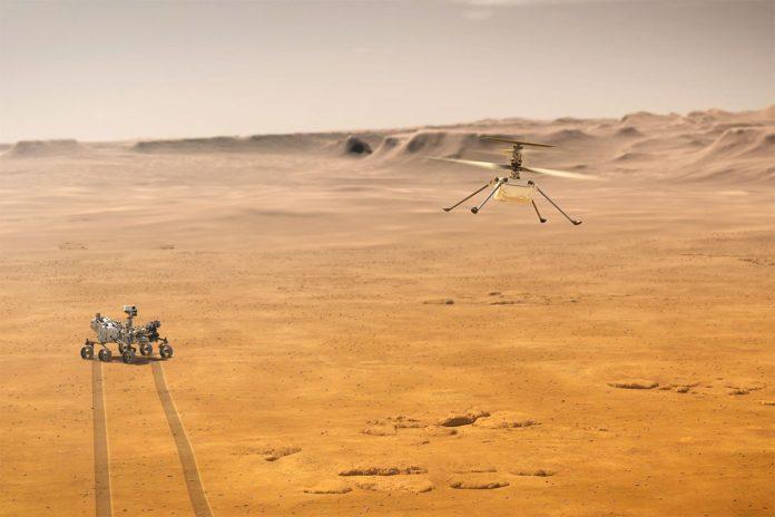 helicóptero Ingenuity en Marte