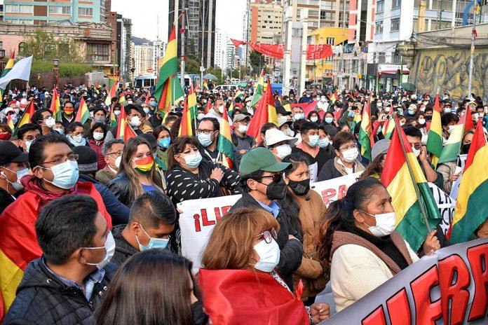 marcha contra detención Jeanine Áñez