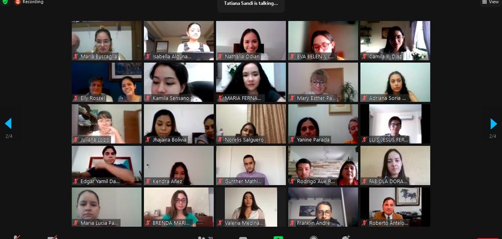 sala virtual de la plataforma digital Zoom