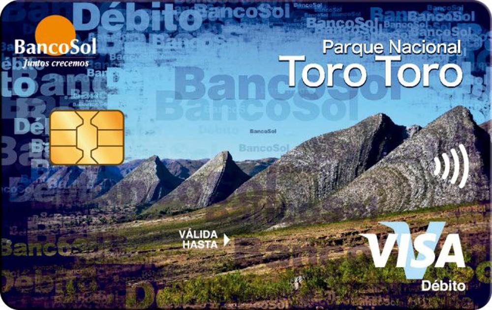 BancoSol ocho modelos de tarjetas de debito