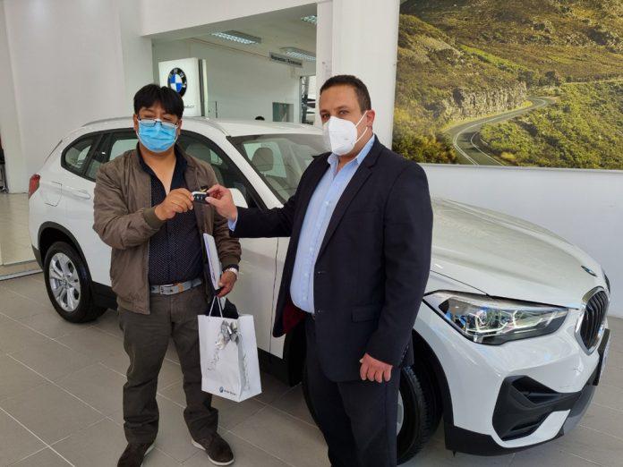 Juan Chipana es el afortunado ciudadano que gano el BMW X1 cero kilometros
