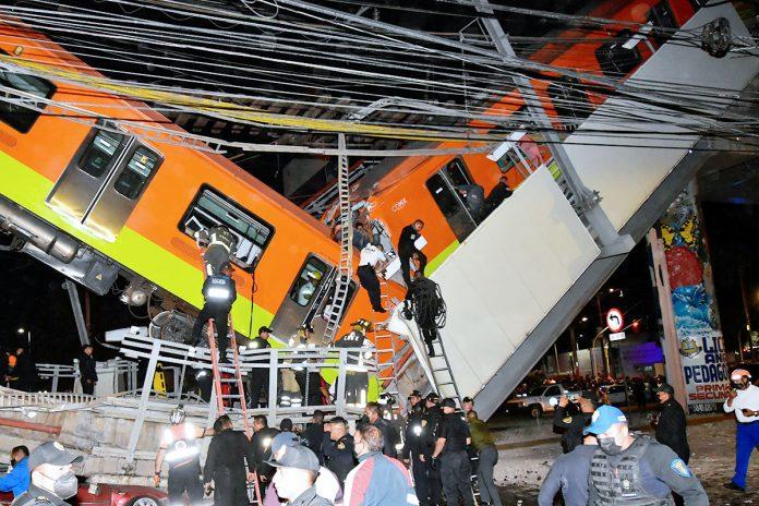 accidente de un metro de la Ciudad de México