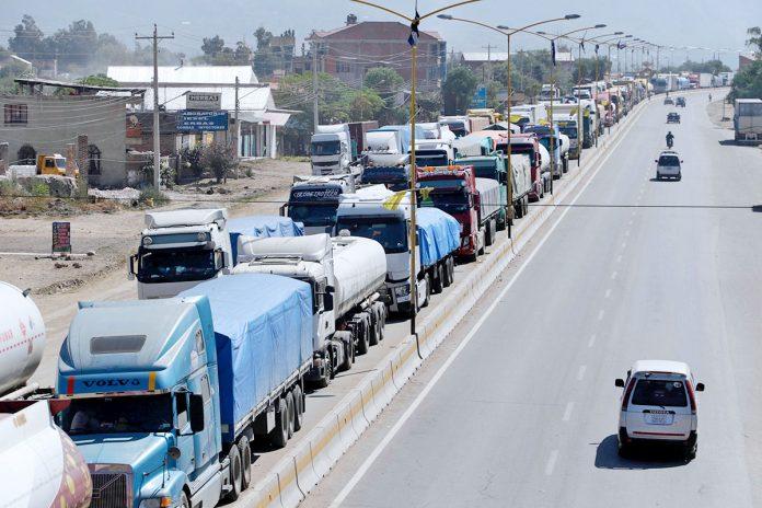 bloqueo de transportistas pesados