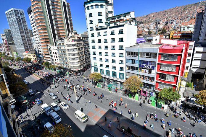 marcha padres de familia de El Alto