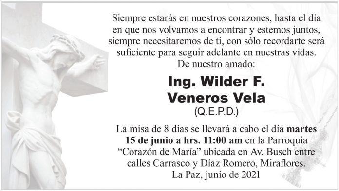 Misa de 8 días - Ing. Wilder F. Veneros Vela