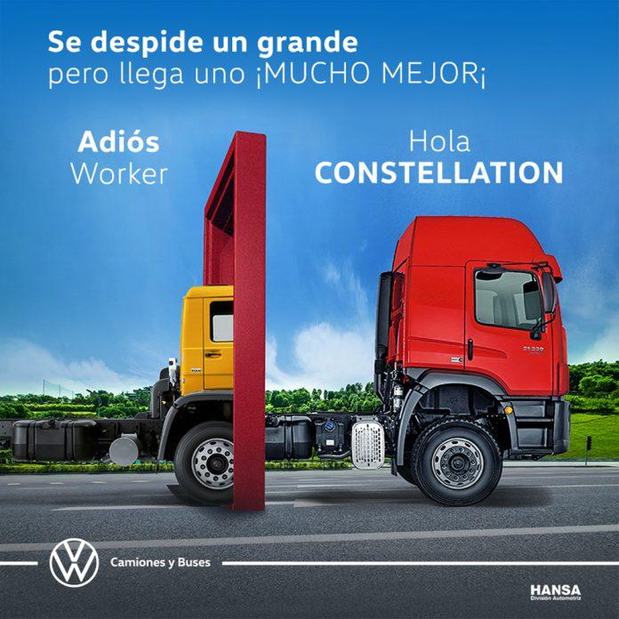 Volkswagen despide con un homenaje a su legendario camion Worker dando paso a la nueva linea Constellation