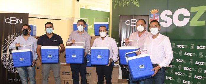 CBN continua con su apoyo a la campana de vacunacion contra el COVID 19 con la donacion de 440 conservadores para mantener la cadena de frio