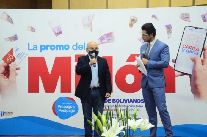 Entel sorteo 1 millon de bolivianos entre sus clientes