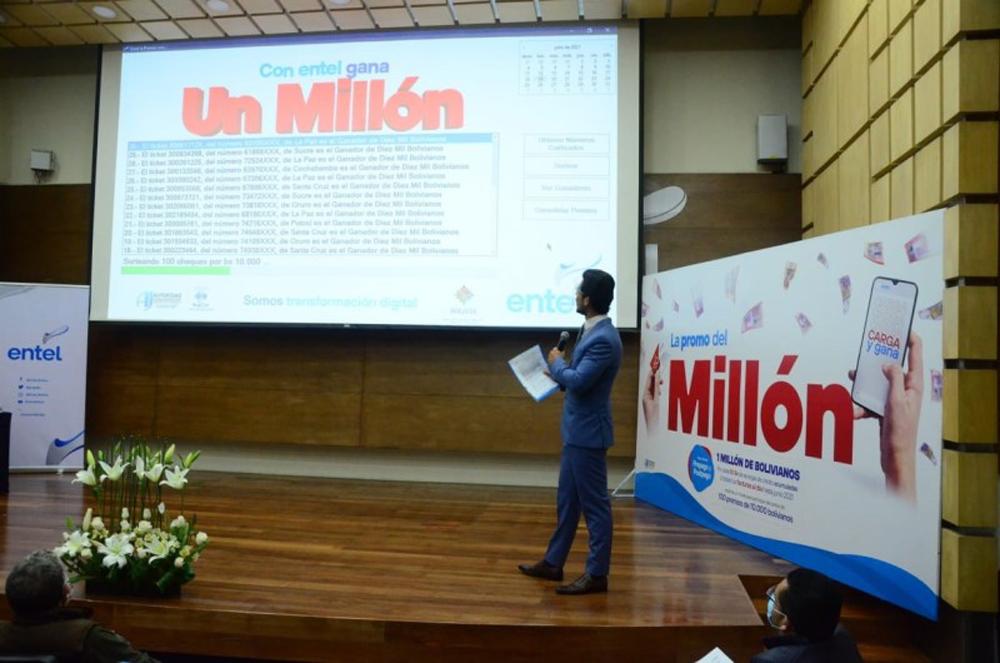 Entel sorteo 1 millon de bolivianos