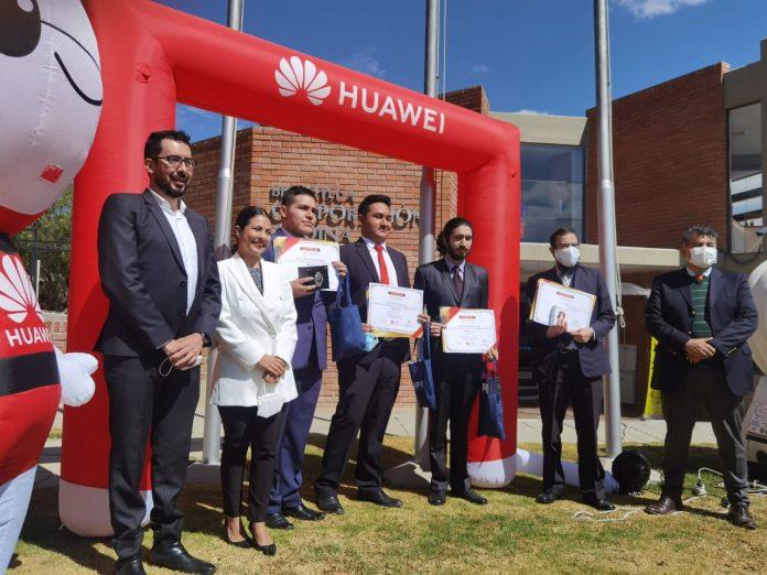 Estudiantes bolivianos ganan el primer lugar en la categoria Cloud a nivel nacional del Huawei ICT Competition 2020