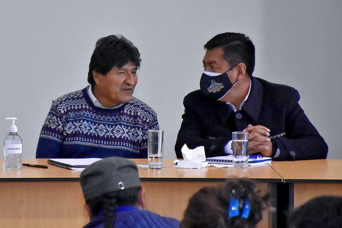 Evo Morales y Freddy Mamani