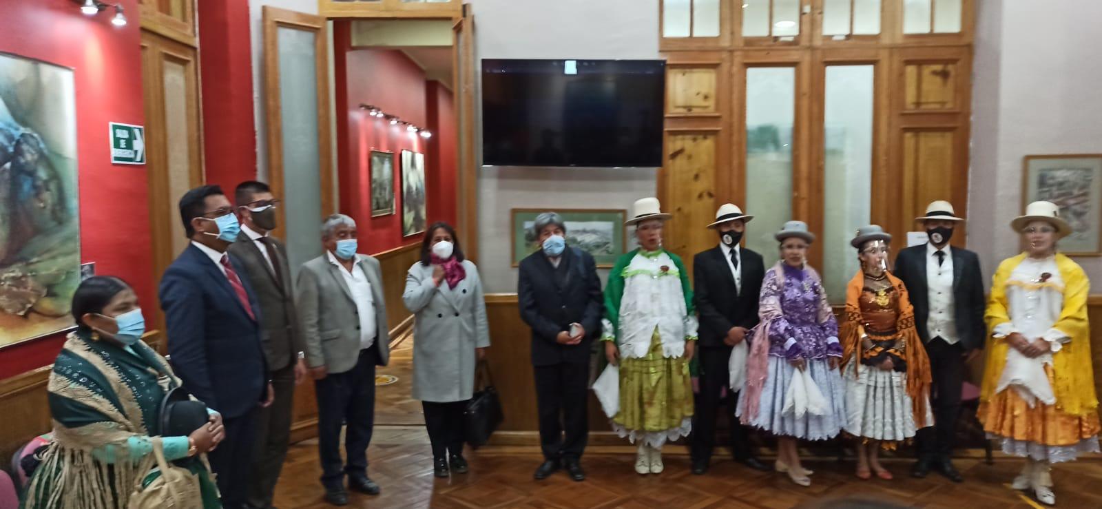 Exposicion cultural en el Concejo Municipal de La Paz