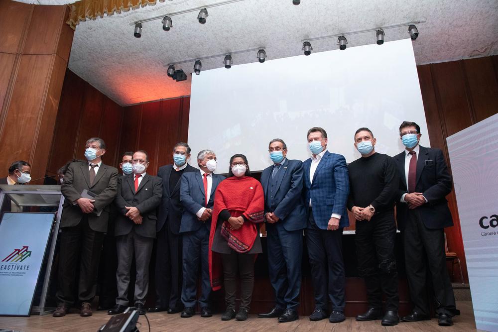 Inauguracion de la Feria para la Reactivacion Economica Integral por Bolivia REACTIVATE