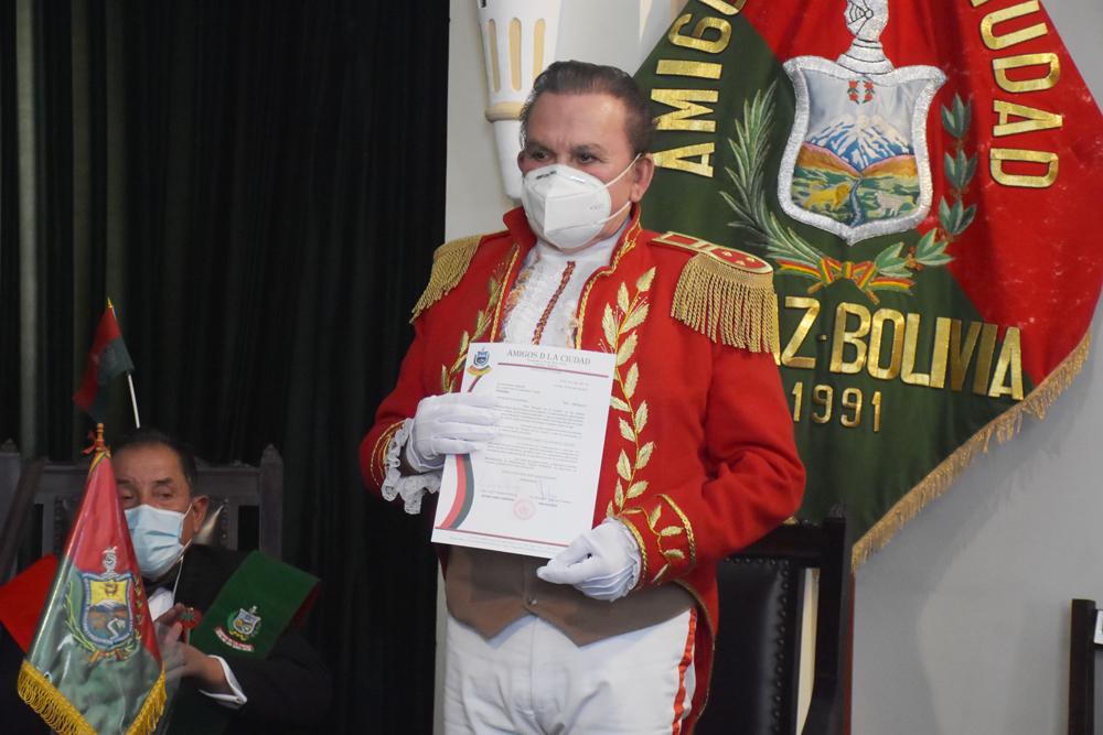 Jose Luis Saavedra quien personaliza a Don Pedro Domingo Murillo