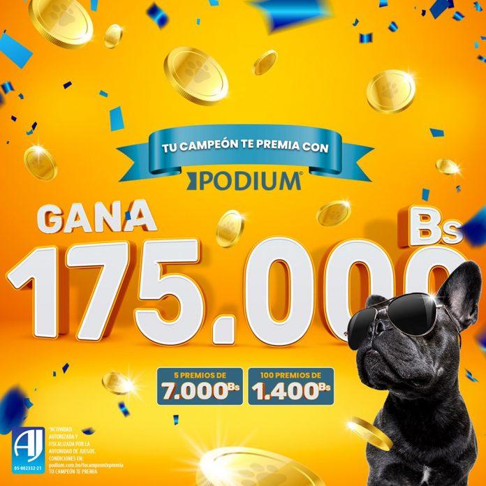 PODIUM premia a los duenos de perritos con 175.000 Bs en mas de 100 premios