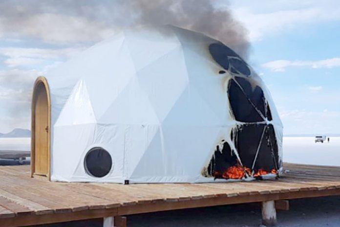quemaron domos del hotel Kachi Lodge