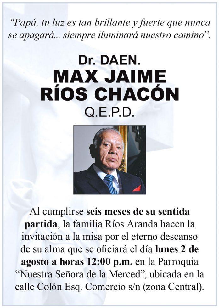 Misa 6 meses - Jaime Ríos Chacón