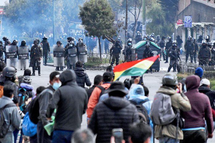 enfrentamientos entre cocaleros y la Policía