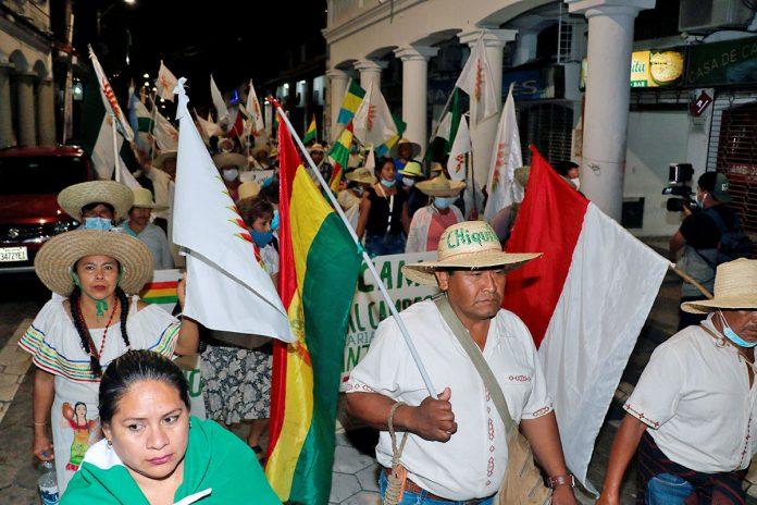 marcha indígena llega a Santa Cruz
