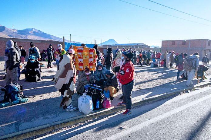 migrantes venezolanos en Colchane
