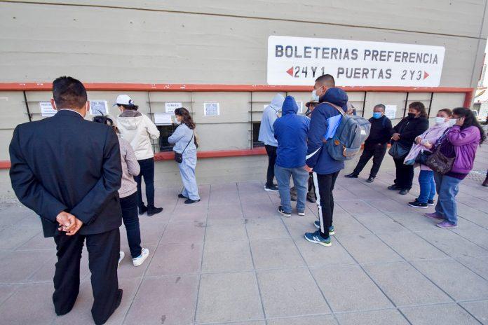venta de entradas estadio Hernando Siles