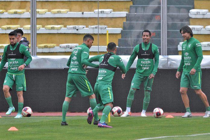 entrenamiento selección boliviana